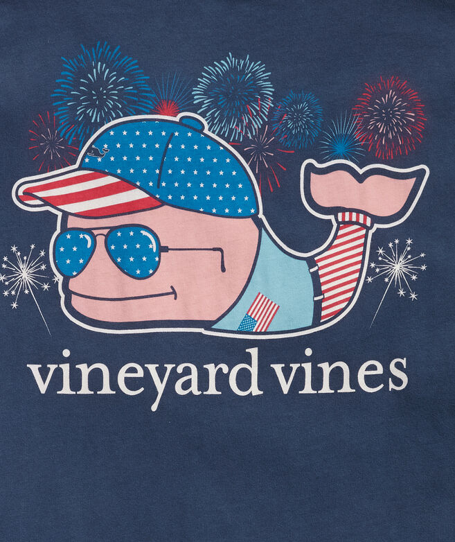 Fourth of July Whale Short-Sleeve Pocket Tee