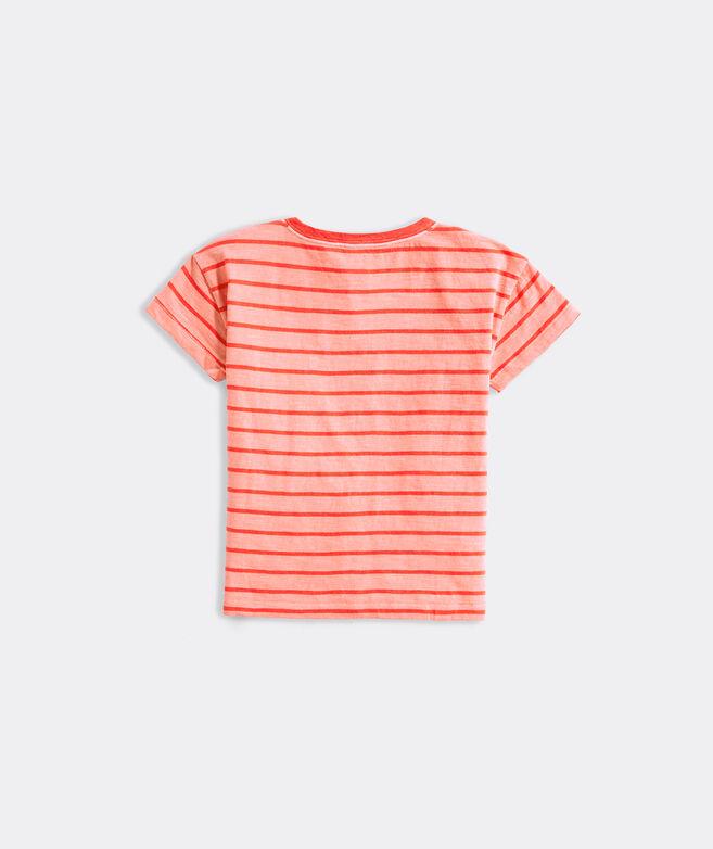 Girls' Garment-Dyed Stripe Surftee