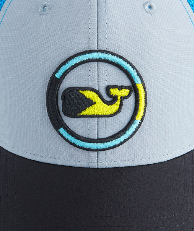 cbafdb7aff2fe Performance Bahamas Embroidered Whale Dot Trucker Hat