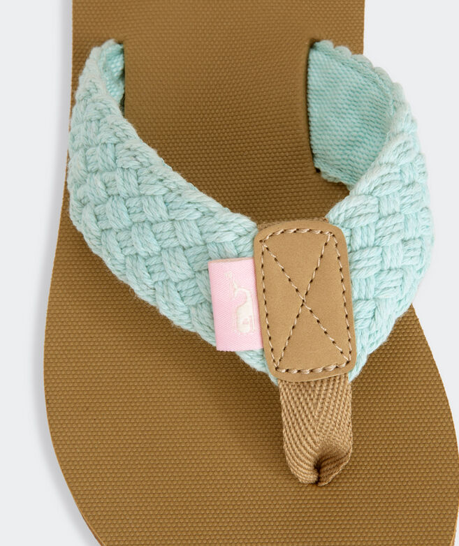Girls' Braided Flip Flops