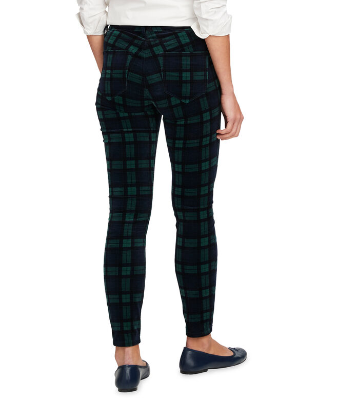 Blackwatch Velveteen Jamie High Rise 5-Pocket Pants