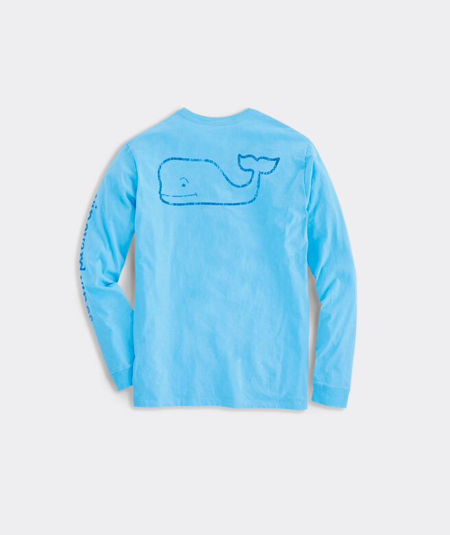 Vintage Whale Graphic Long-Sleeve Pocket Tee