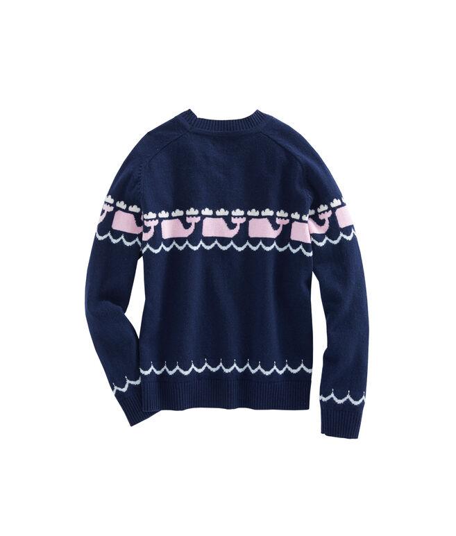 Girls Multi Whale Intarsia Sweater