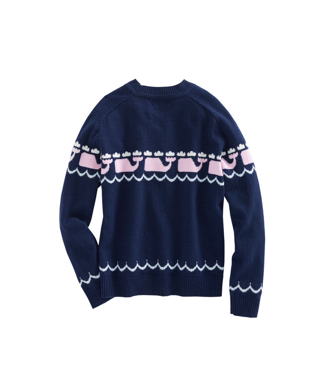 Girls Multi Whale Intarsia Sweater