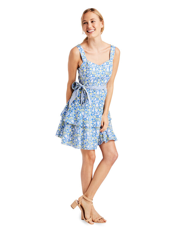 Pop Tile Otomi Fit And Flare Dress