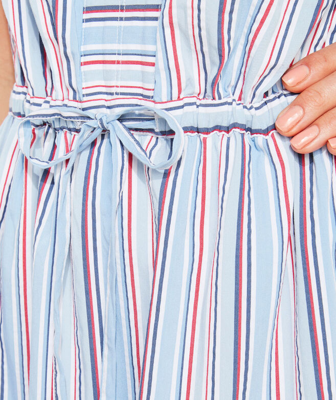 Seersucker Stripe Fit and Flare Dress