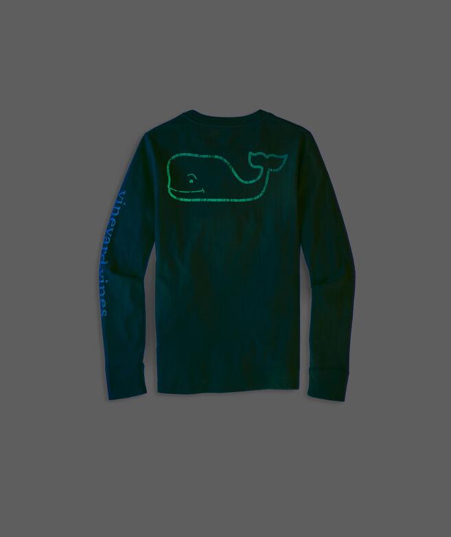 Boys' Glow-In-The-Dark Vintage Whale Long-Sleeve Pocket Tee