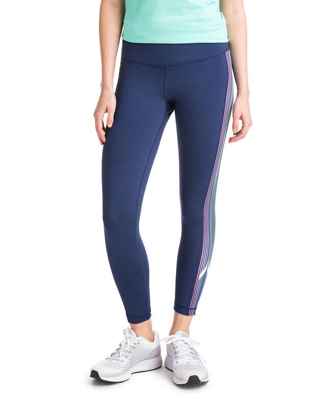 Whale Stripe Full Length Sport Leggings