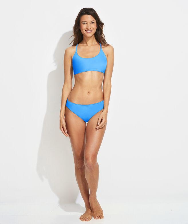 Palm Frond Reversible Bikini Top