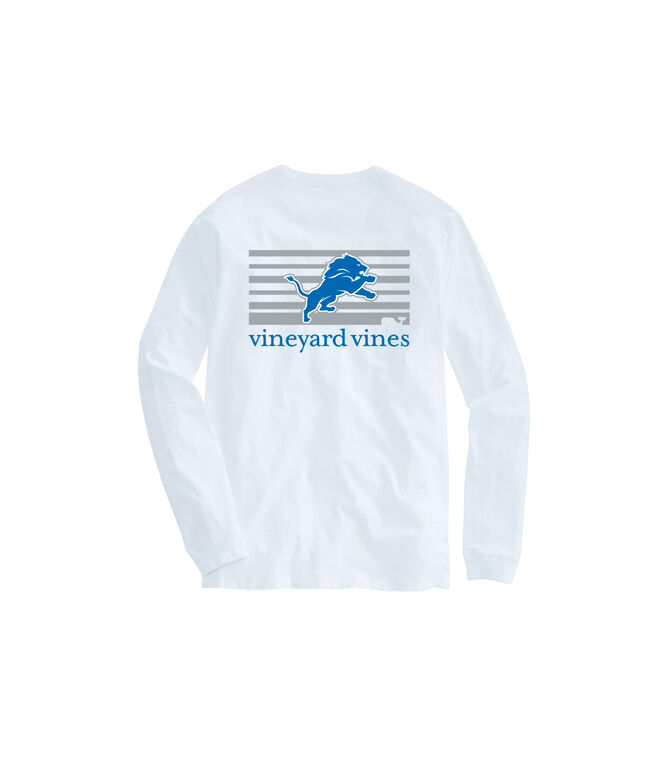 Adult Lions Long-Sleeve Block Stripe T-Shirt