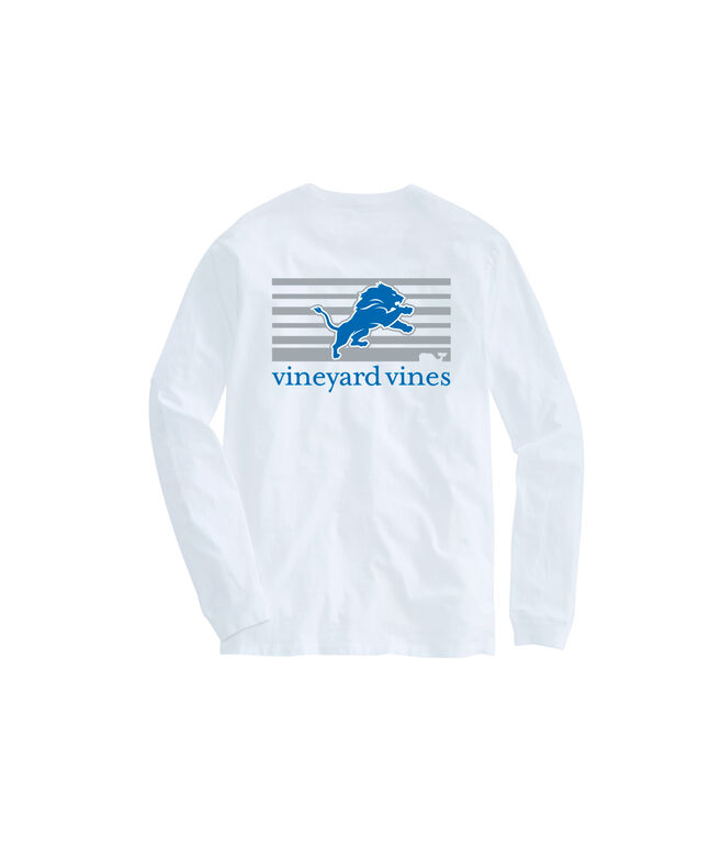 Adult Lions Long-Sleeve Block Stripe T-Shirt