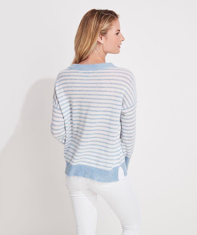 Lofty Cashmere Striped Crewneck Sweater