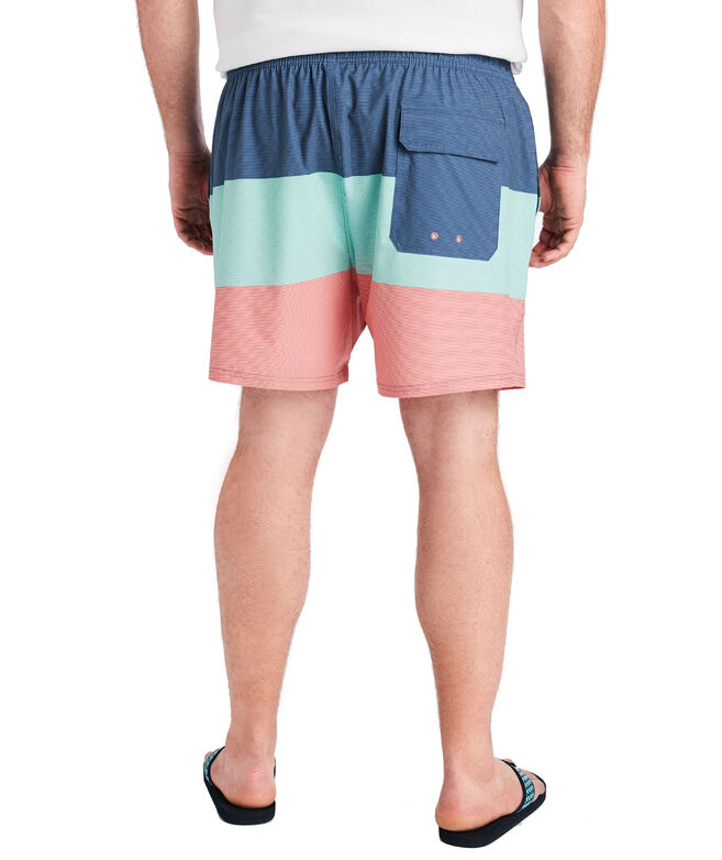 Big & Tall Pieced Fine Line Stripe Chappy Trunks