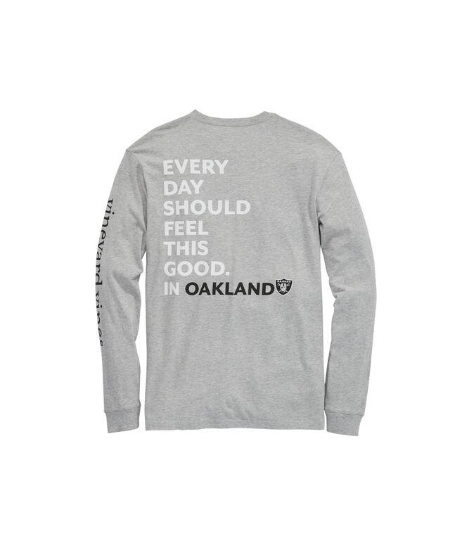 Oakland Raiders Long-Sleeve EDSFTG T-Shirt