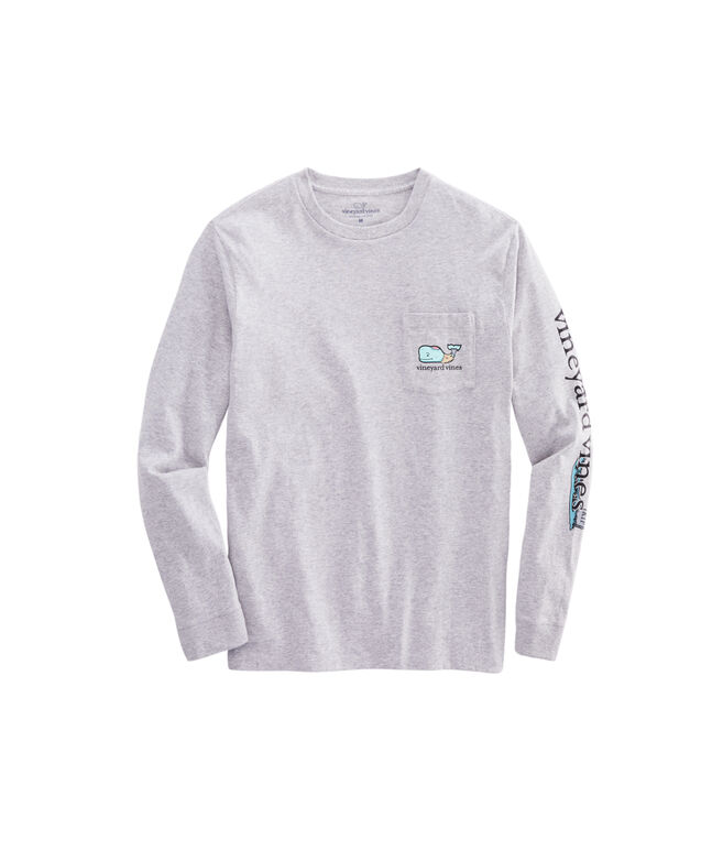 Big & Tall Zombie Whale Long-Sleeve Pocket T-Shirt