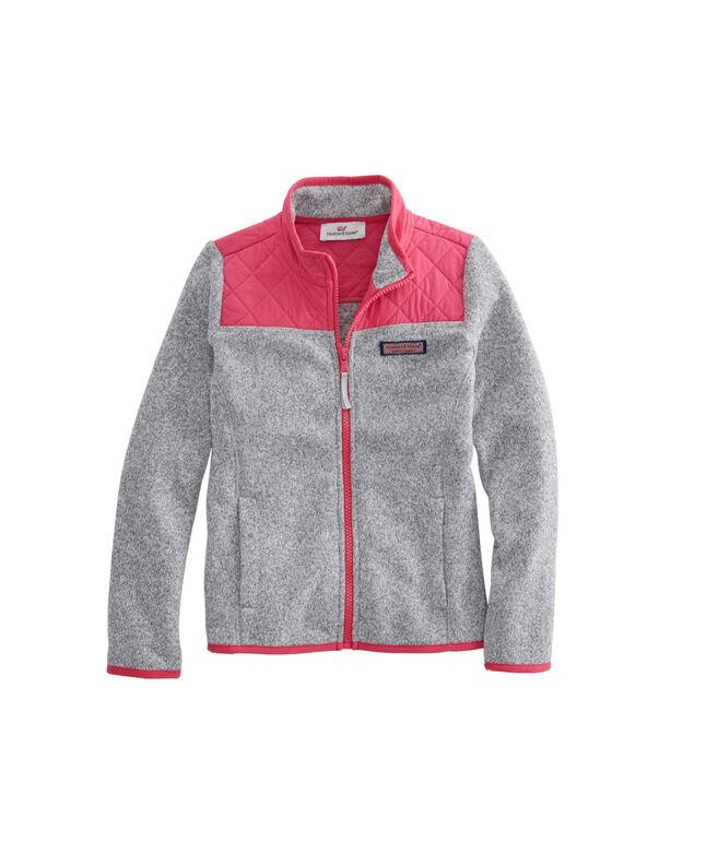 efa192b67 Shop Girls Sweater Fleece Full-Zip Shep Shirt at vineyard vines