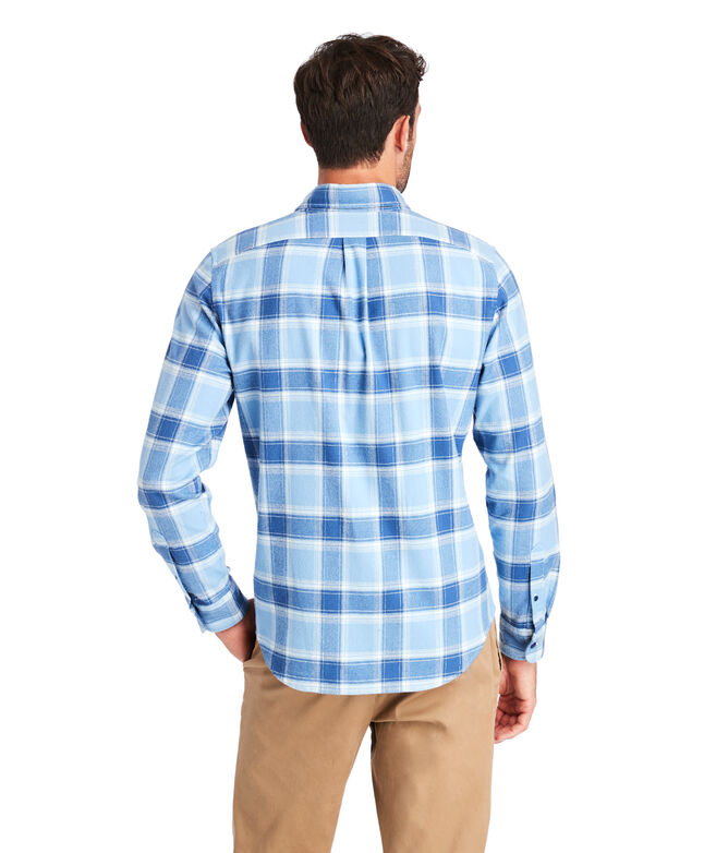 Slim Fit Mulberry Flannel Tucker Shirt
