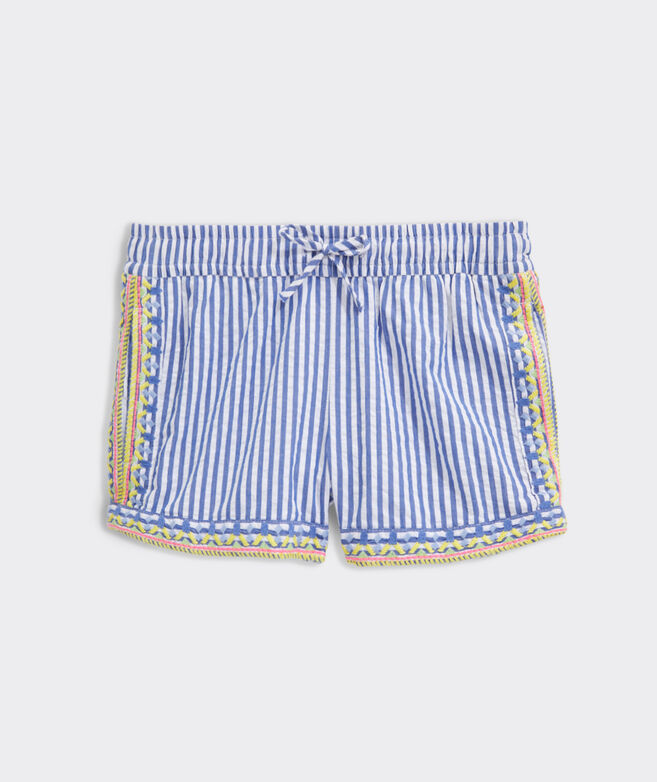 Girls' Embroidered Pull-On Shorts