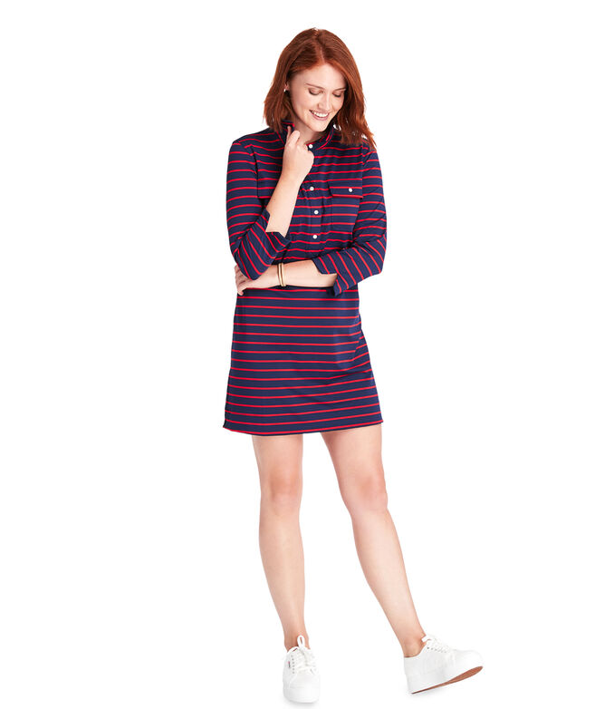 Break Stripe UPF Margo Shirt Dress