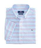 Short-Sleeve Steel Point Stripe Popover Shirt