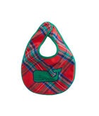 Jolly Plaid Bib