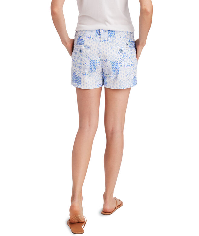 Painted Patchwork 3 1/2 Inch Every Day Shorts