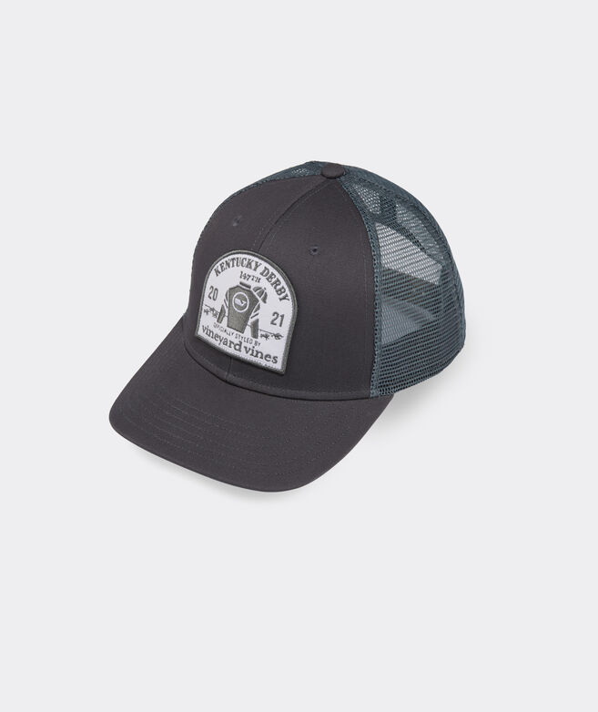 Kentucky Derby Jockey Patch Trucker Hat
