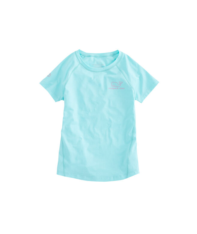 Girls Performance Vintage Whale Tee
