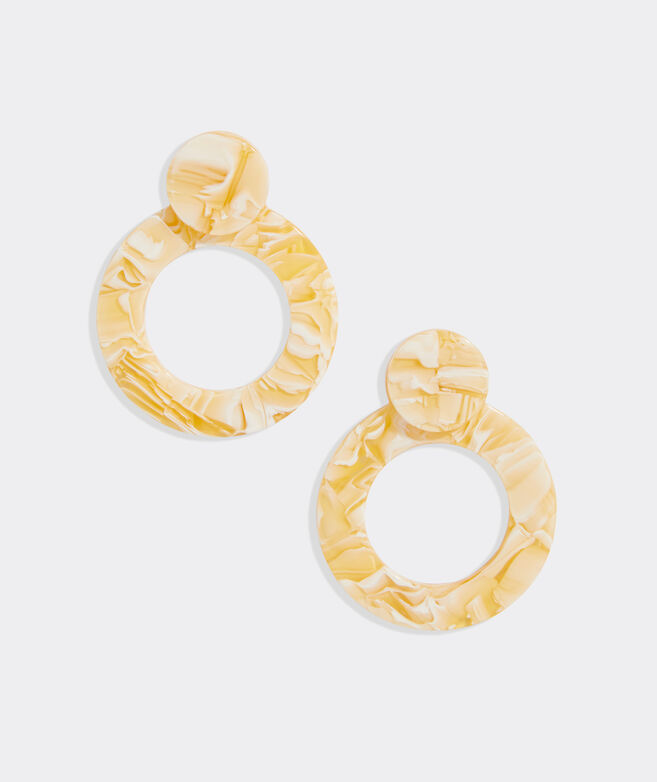 Circle Resin Statement Earrings