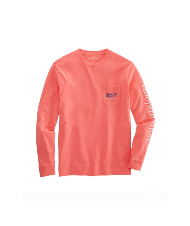 Crab Stamp Long-Sleeve Pocket Tee