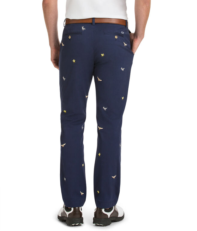 Tossed Embroidery Breaker Pants
