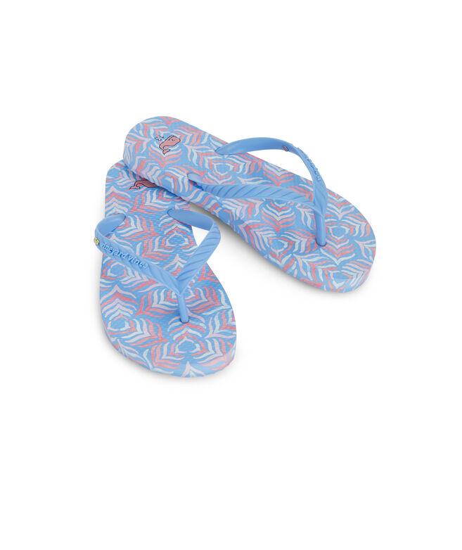 Girls Whaletail Printed Flip Flops