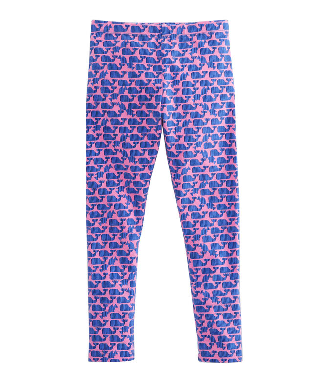 Girls Striped Whale All Day Leggings