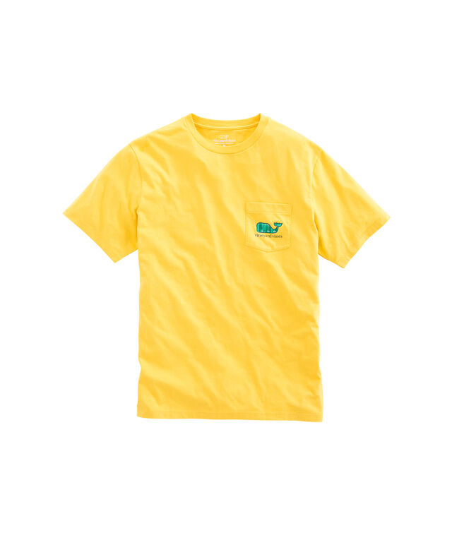 Football Field Whale Fill Pocket T-Shirt