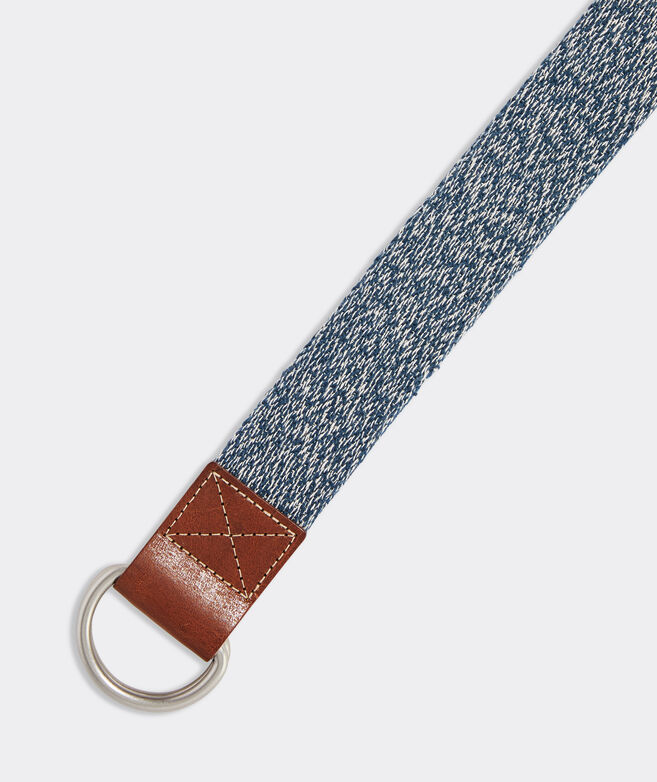 Heathered Canvas D-Ring Belt