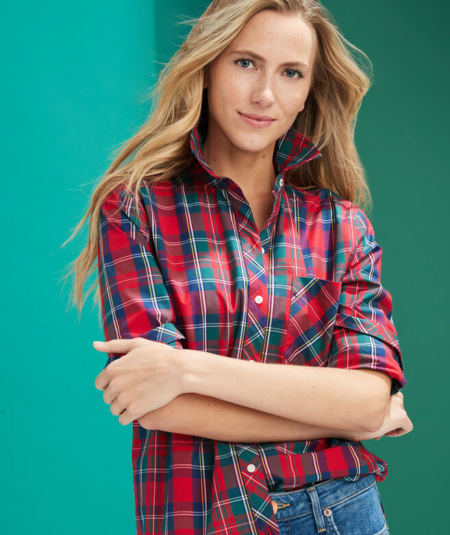 Merry Plaid Chilmark Relaxed Button-Down Shirt