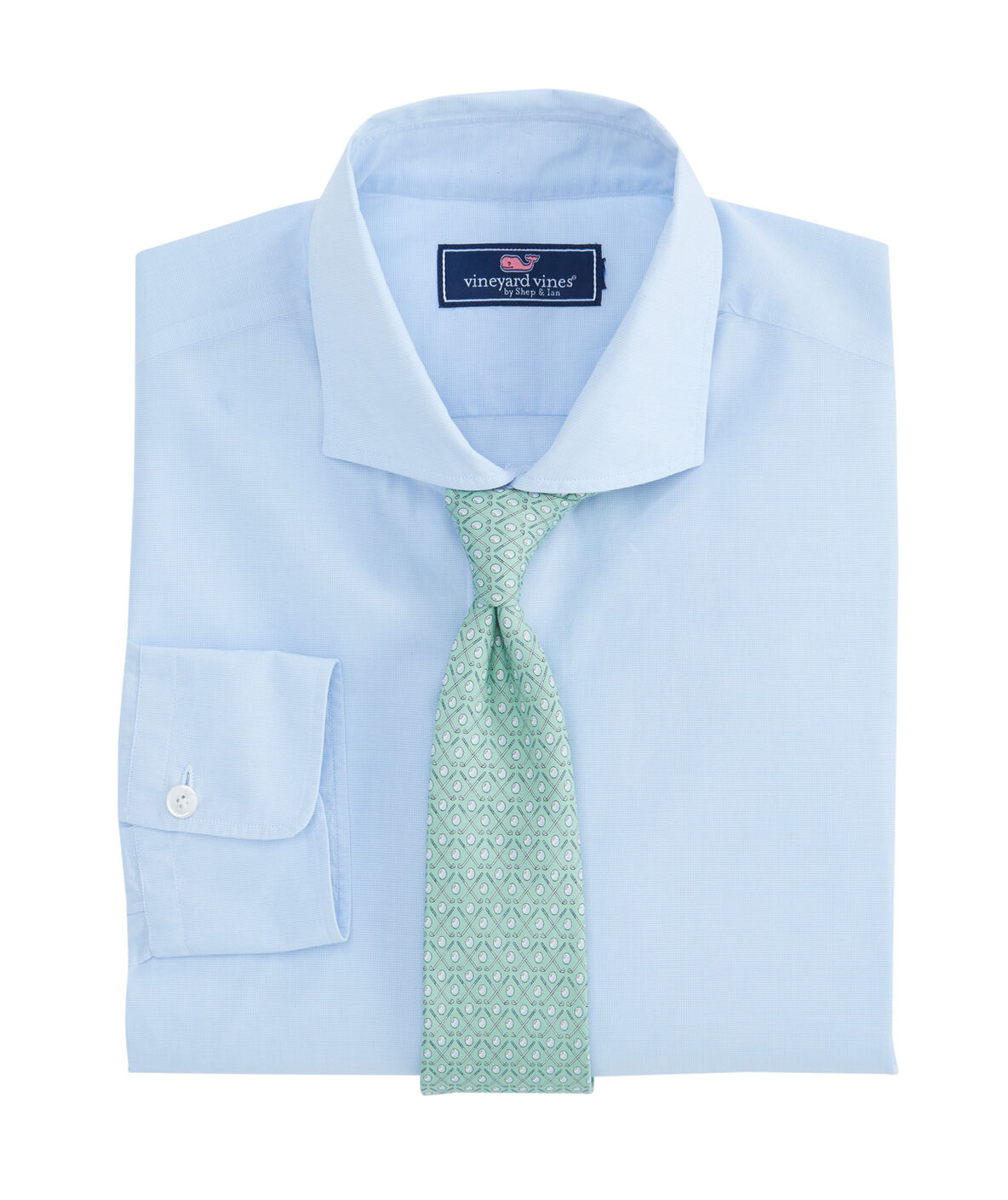 Shop blue micro check spread collar greenwich shirt at for Spread collar dress shirt without tie