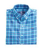 Boys Plaskett Creek Plaid Flannel Whale Shirt