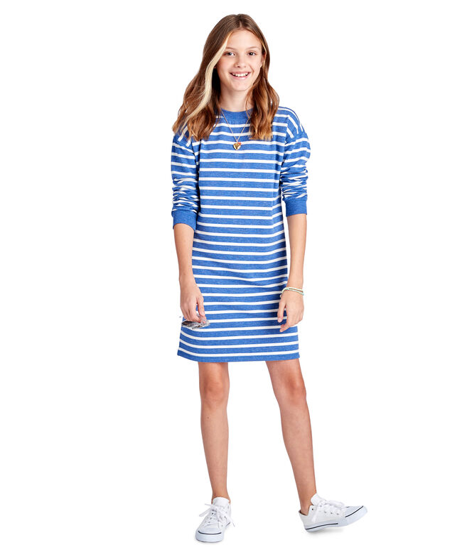 Girls Cozy Stripe Dress