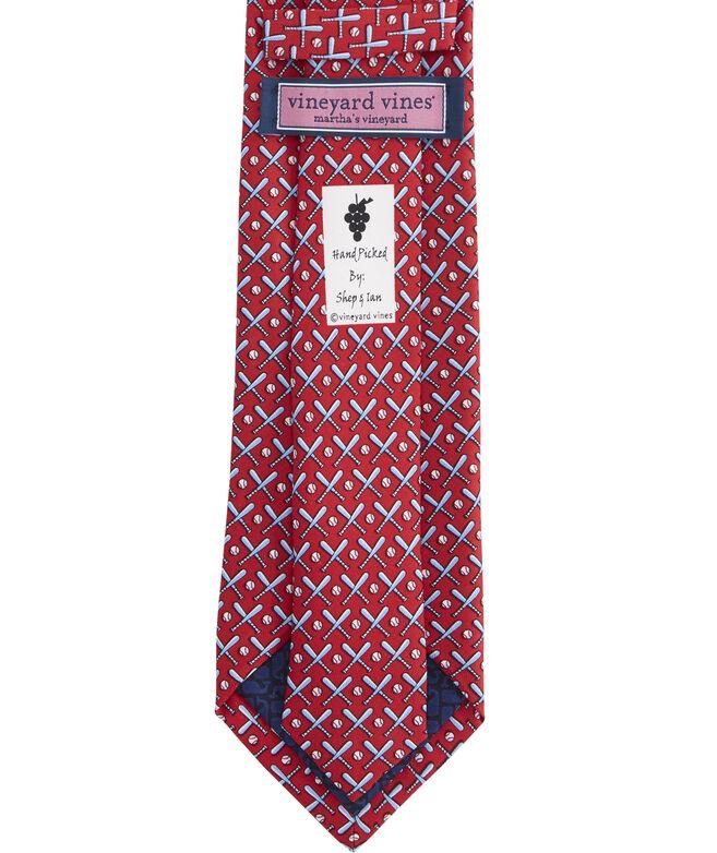 Baseball Bats Printed Tie