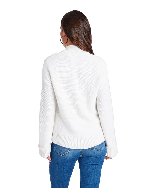 Full-Zip Mock Sweater
