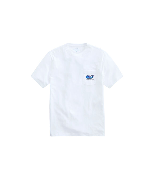 Big & Tall Vineyard Scene Whale Fill Pocket T-Shirt