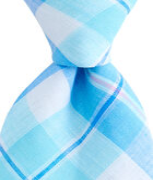Upper Bluff Plaid Woven Tie