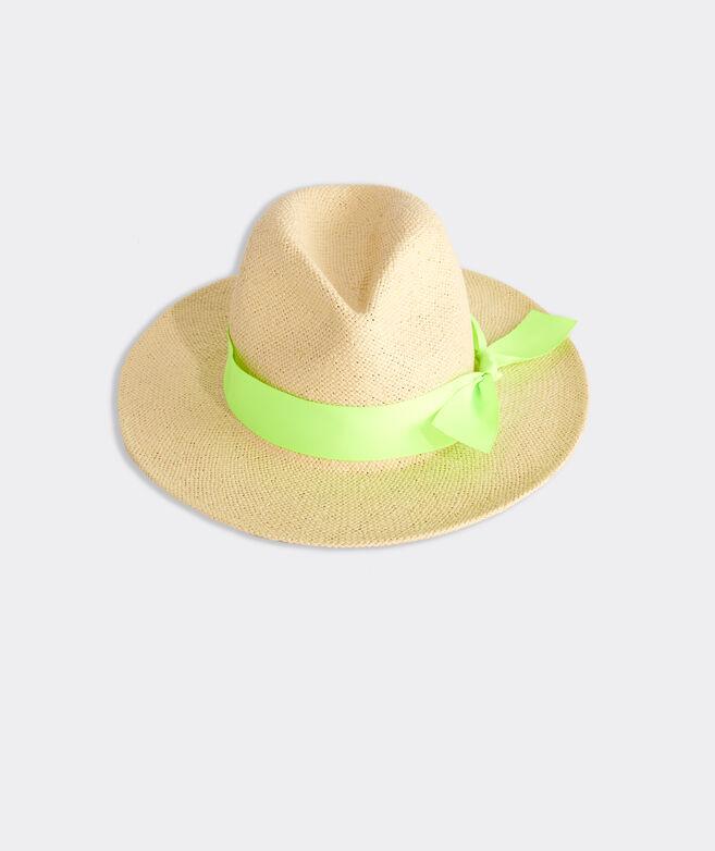 Girls' Straw Fedora Hat