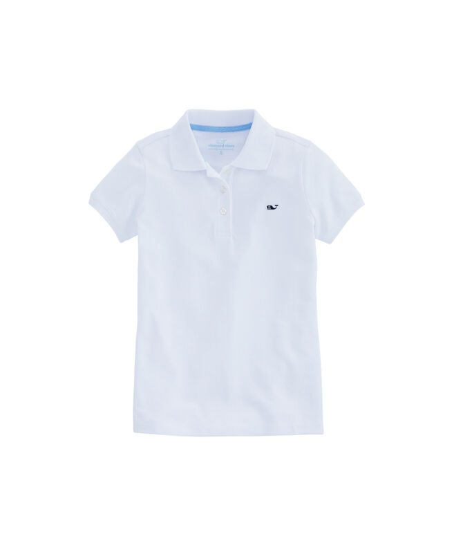 Girls New Short-Sleeve Pique Polo