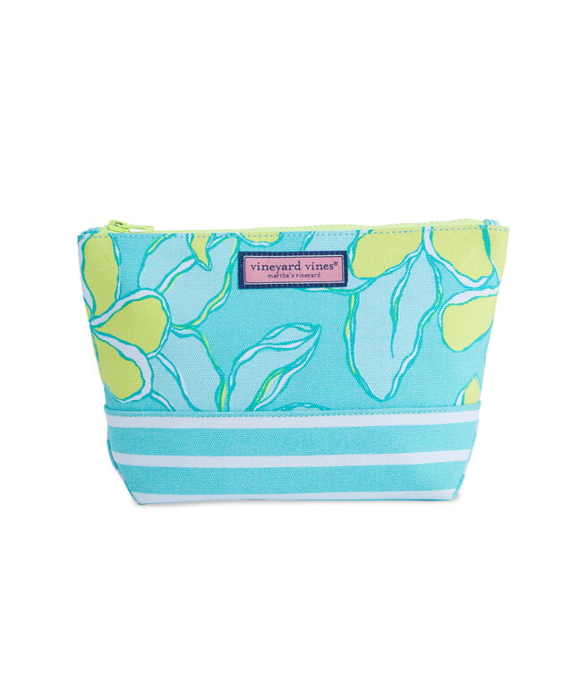 Canvas Big Floral Medium Zip Pouch