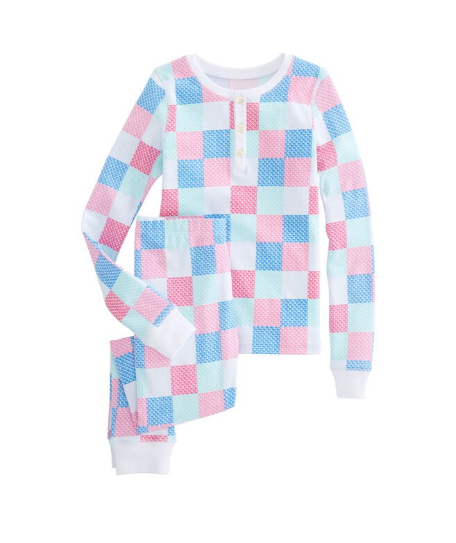 Girls Patchwork Whales Lounge Set