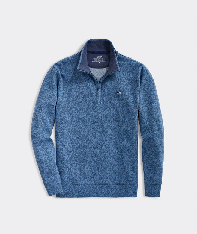 Printed Saltwater 1/2-Zip Pullover