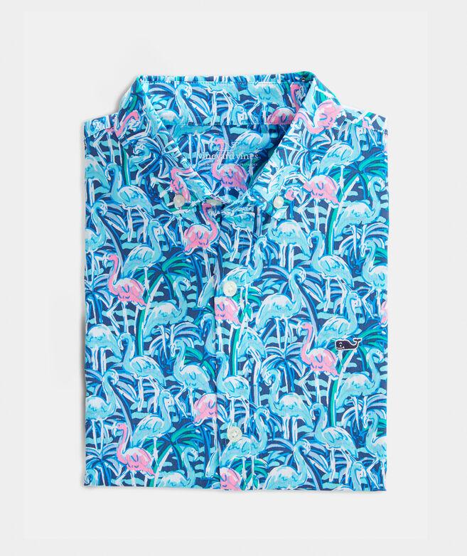 Boys' Windjammer Whale Short-Sleeve Button-Down Shirt