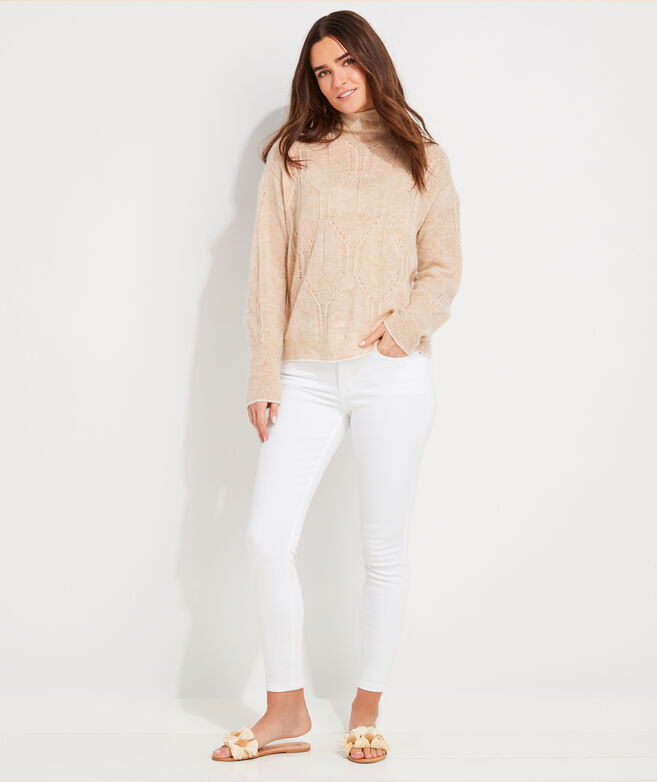 Airy Fisherman Mockneck Sweater
